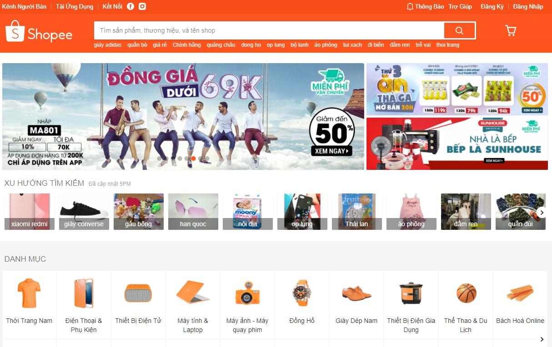 Kênh bán hàng online với mặt hàng đa dạng hàng đầu