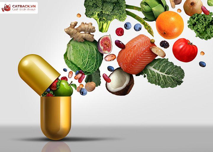 Bổ sung vitamin từ hoa quả hoặc thực phẩm chức năng