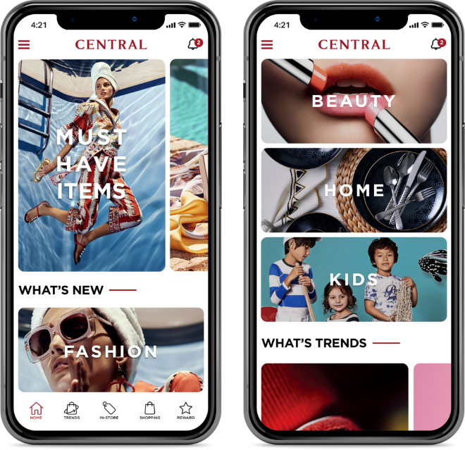 Degito Portfolio Central Department Store Mobile Application Design