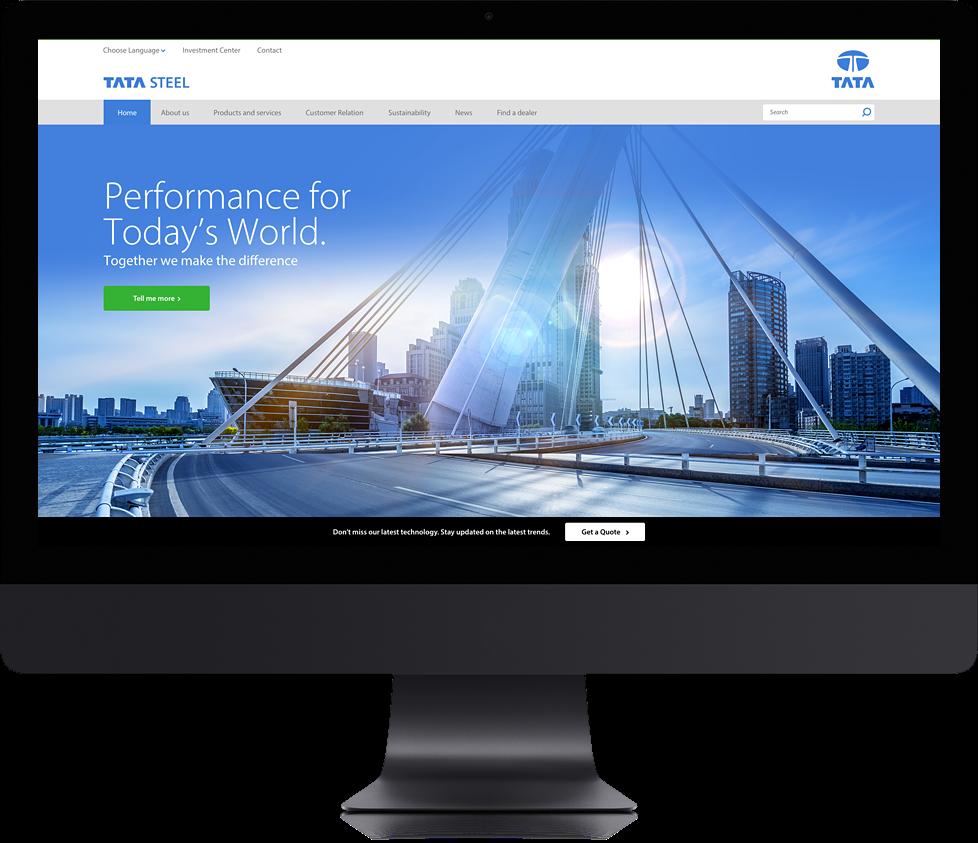 Degito Portfolio TATA Steel (Thailand) Website Design and Development