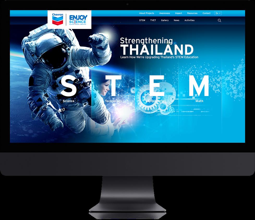 Degito Portfolio Chevron: Enjoy Science Website Design and Development