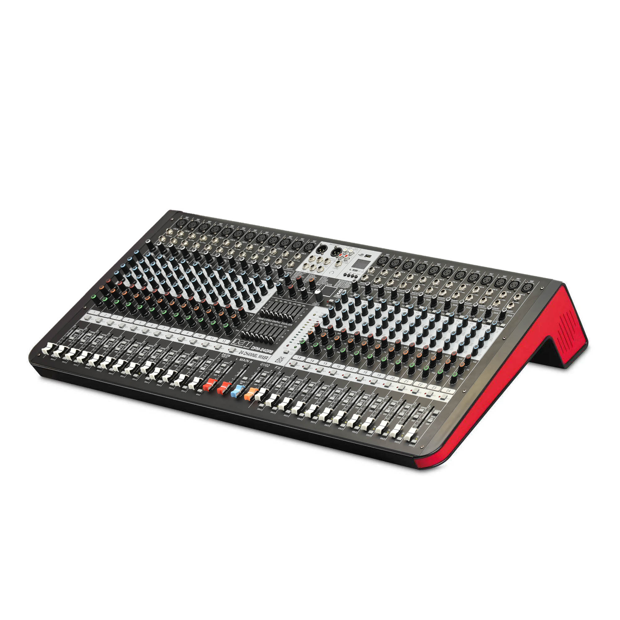 24-Channel Digital Signal Processor (DSP) Mixer