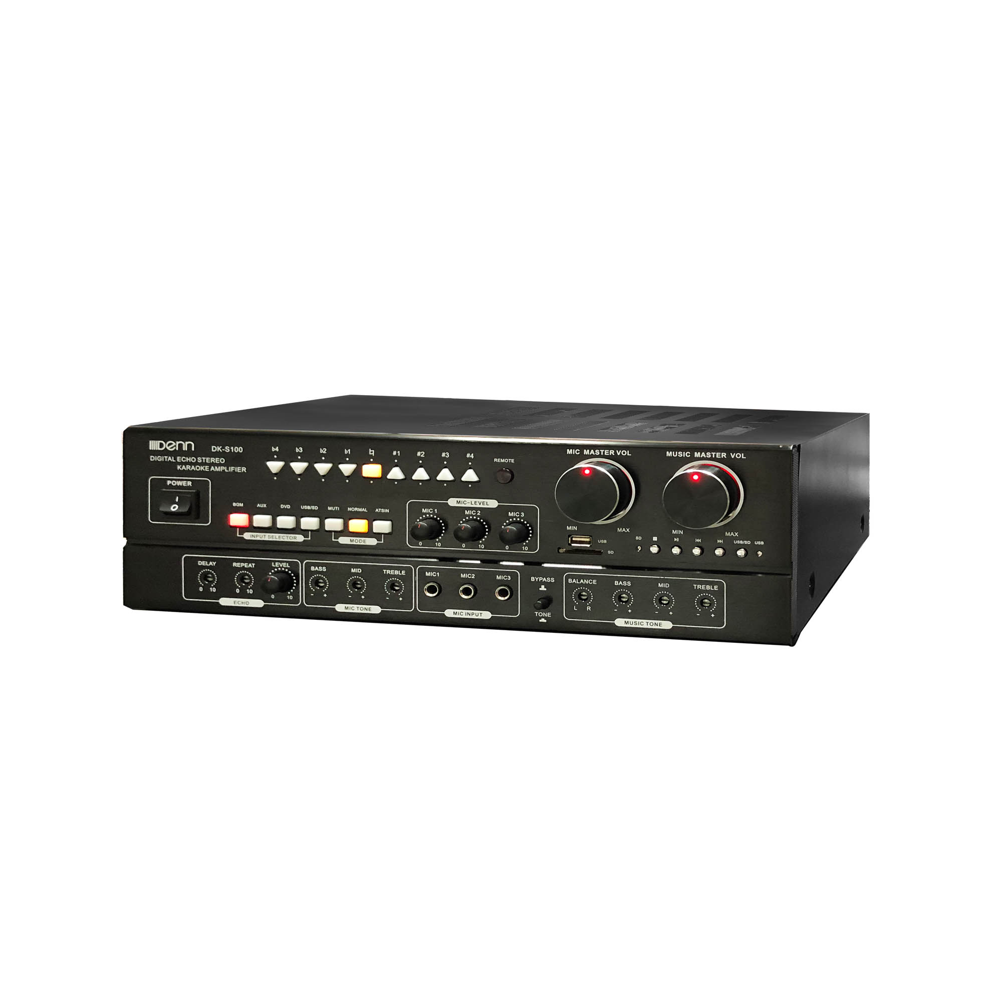 Digital Echo Stereo USB/SD Karaoke Amplifier - Certified by SIRIM & ST