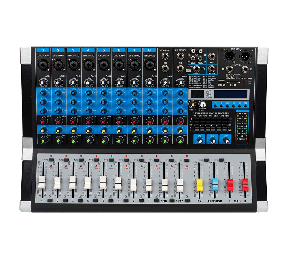 12-Channel Powered Mixer