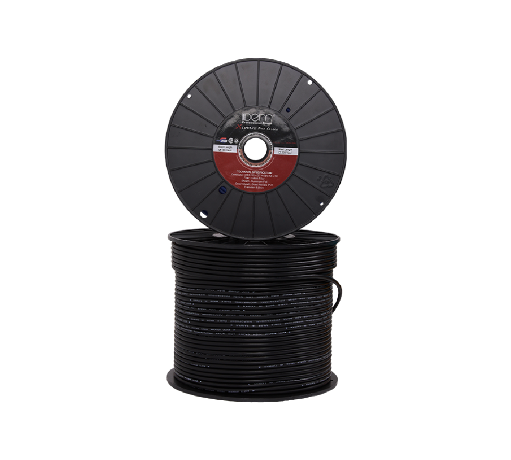 High Grade Low Noise Professional Microphone Cable (Black Color in 200 Yard a Roll)