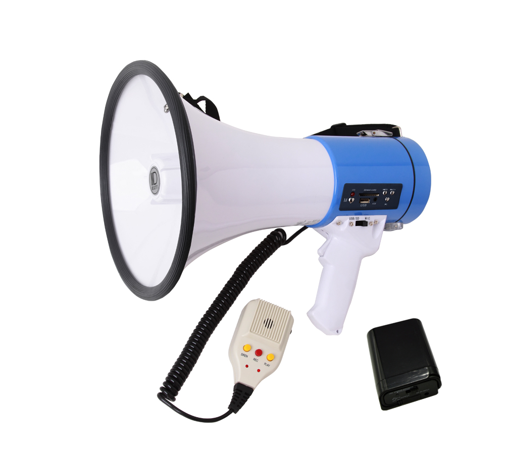 USB/SD/Siren/Voice Recording Power Megaphone (with rechargeable battery)