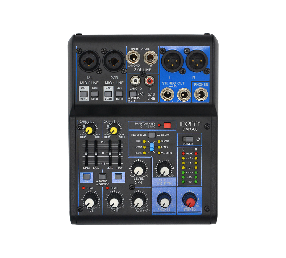 6-Channel Digital Mixer