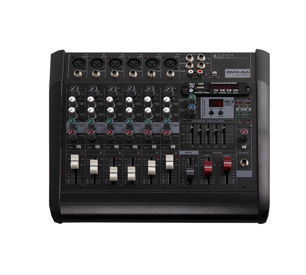 6-Channel Powered Mixer