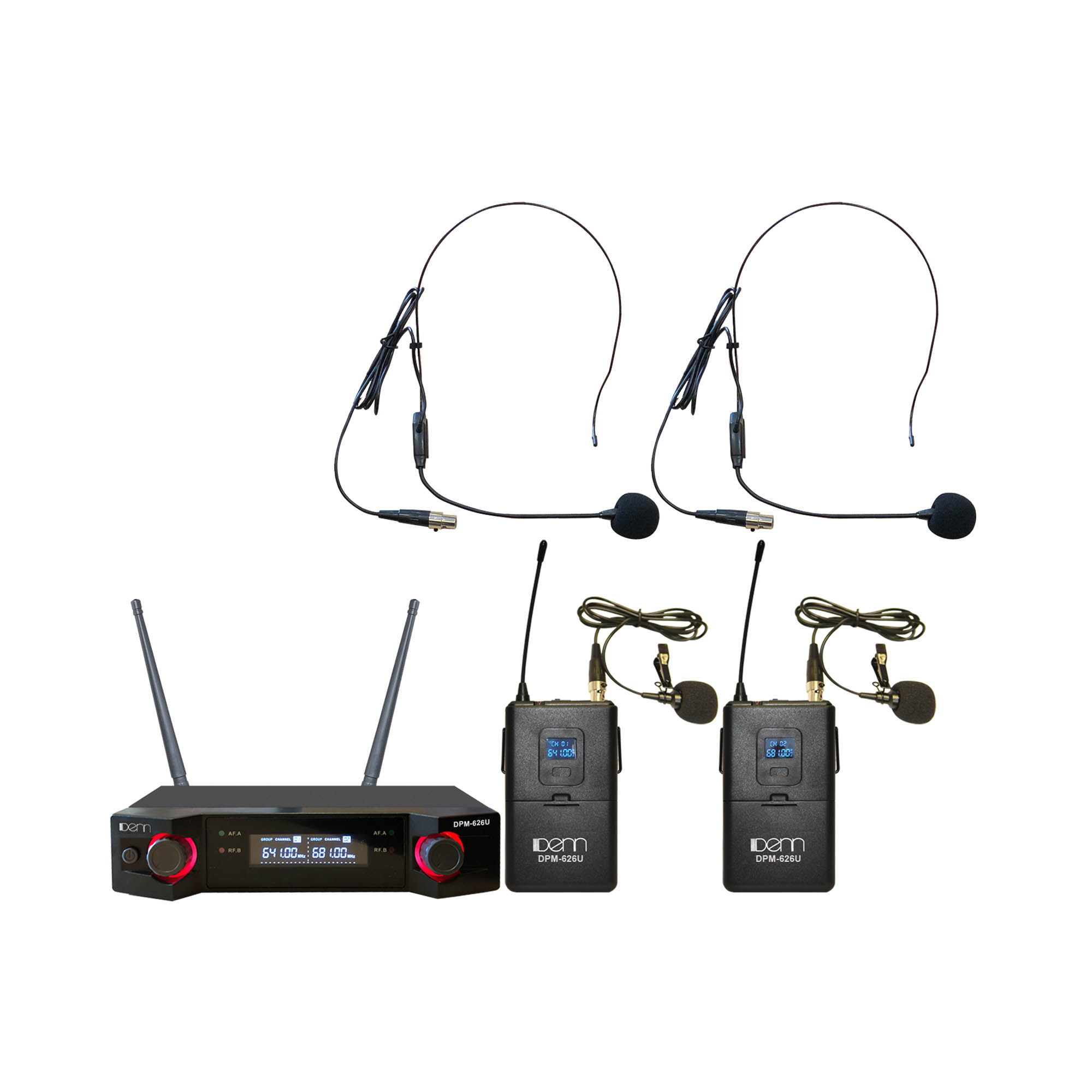Ultra High Frequency (UHF) Wireless Microphone - Certified by MCMC