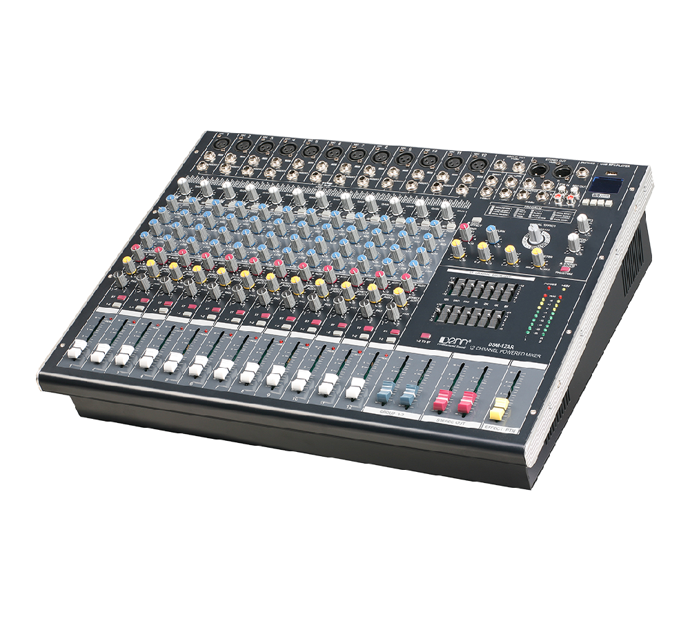 12-Channel Digital Signal Processor (DSP) Powered Mixer