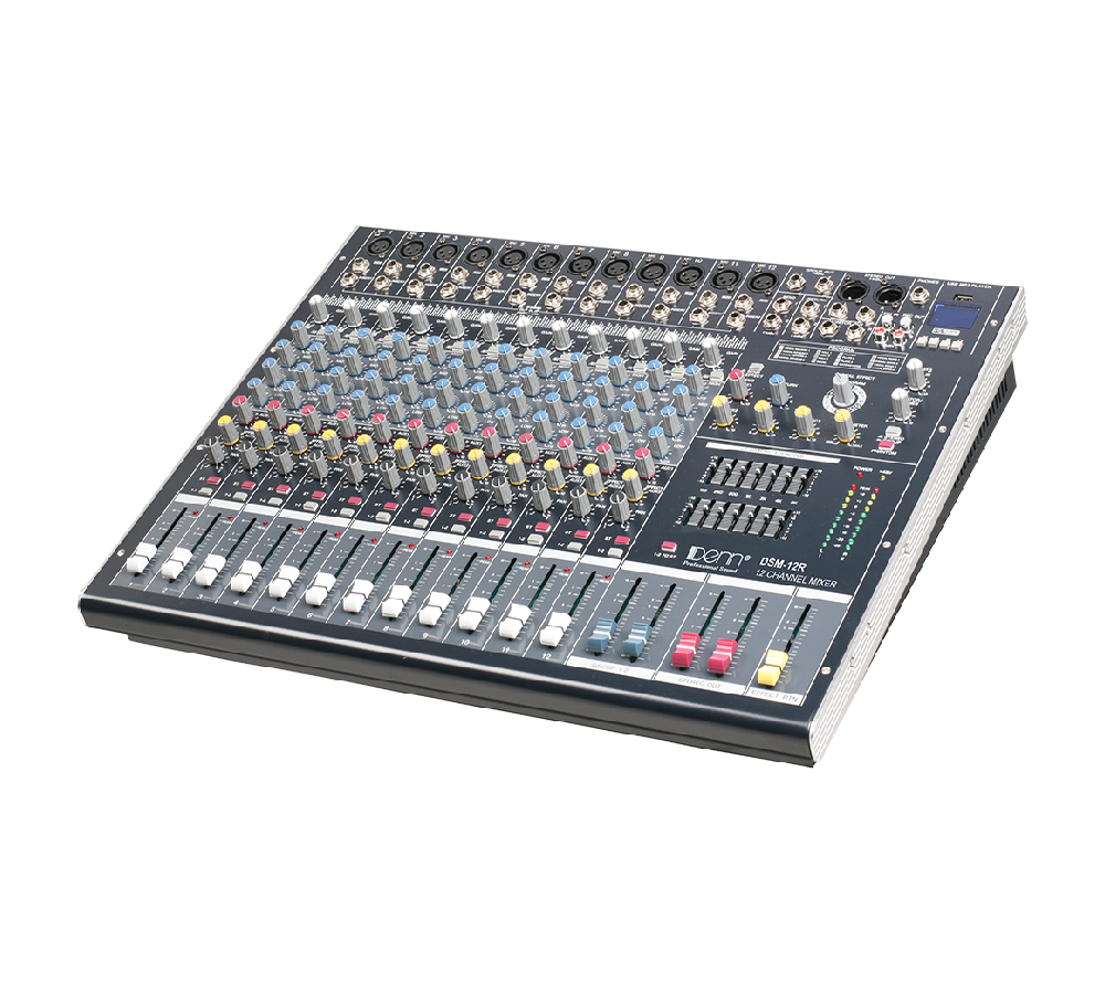 12-Channel Digital Signal Processor (DSP) Mixer