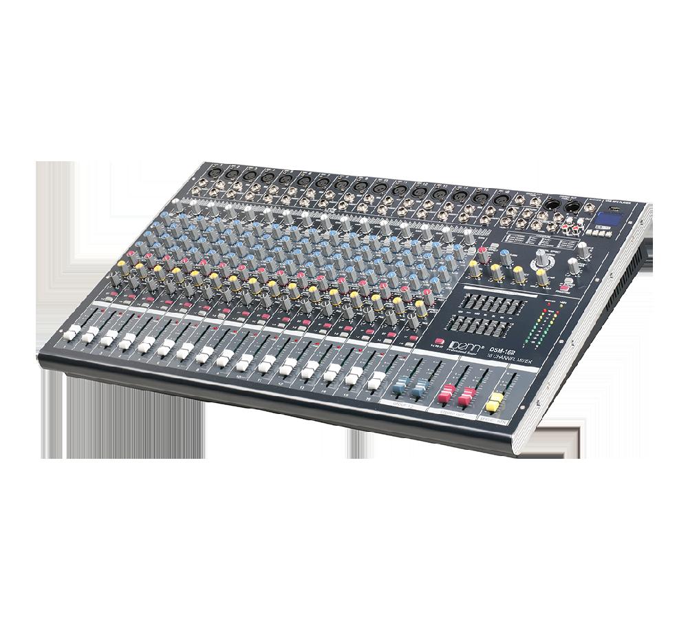 16-Channel Digital Signal Processor (DSP) Mixer