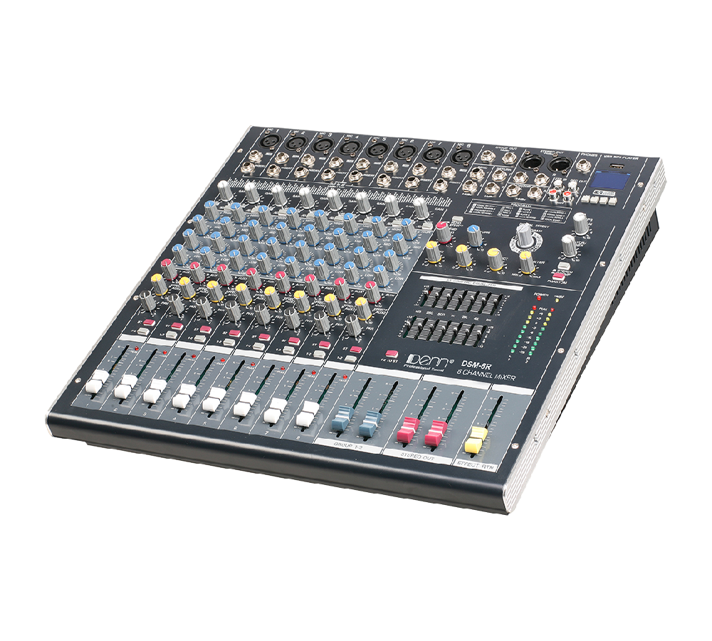 8-Channel Digital Signal Processor (DSP) Mixer