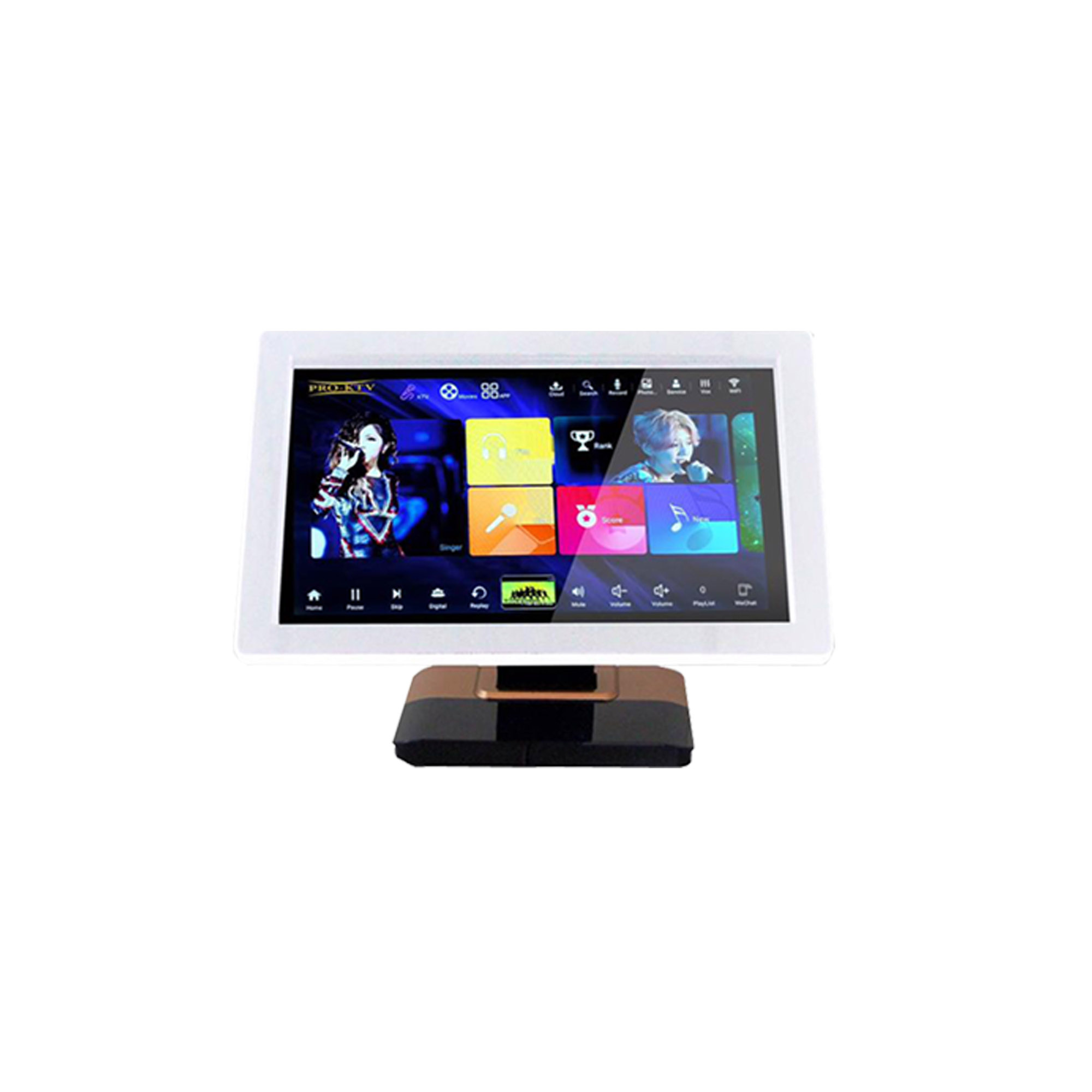 """PRO KTV 21.5"""" All in One Karaoke On Demand Player with Desktop Stand (4TB)"""