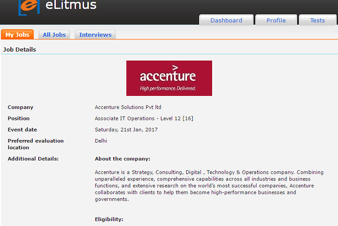 Accenture Offer Letter? - Companies and Jobs - eLitmus Adda