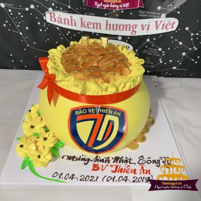 bánh như mẫu + in logo