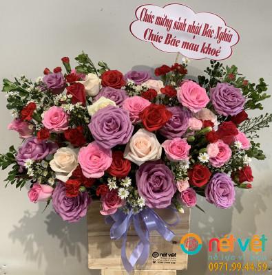 giỏ hoa tặng nữ