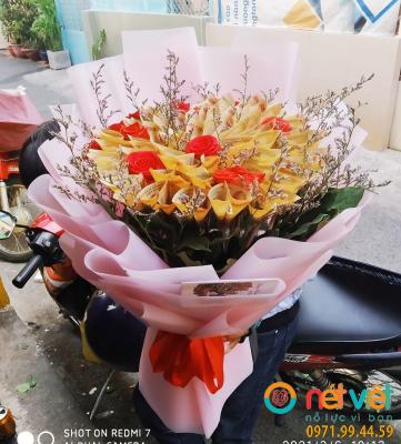 Bó hoa tiền 10k- 44 tờ