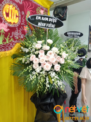 Viếng hồng trắng & lan trắng