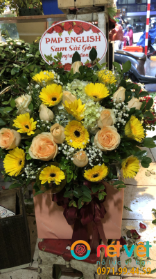 hộp hoa gỗ