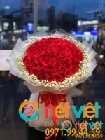 bó hoa sn nữ hồng đỏ+ baby