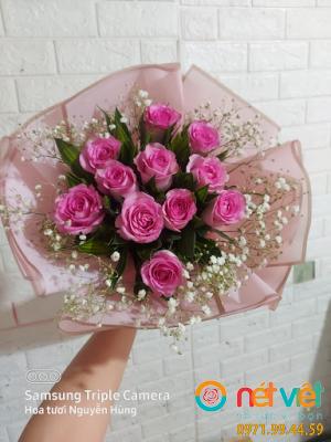 bó hoa làm 11 bông