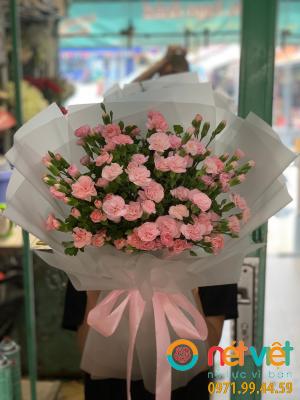 bó cẩm chướng hồng