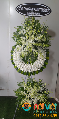 Hoa viếng 2 tầng trắng