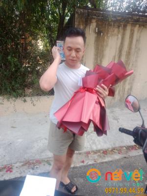 bó hồng đỏ 32 bông