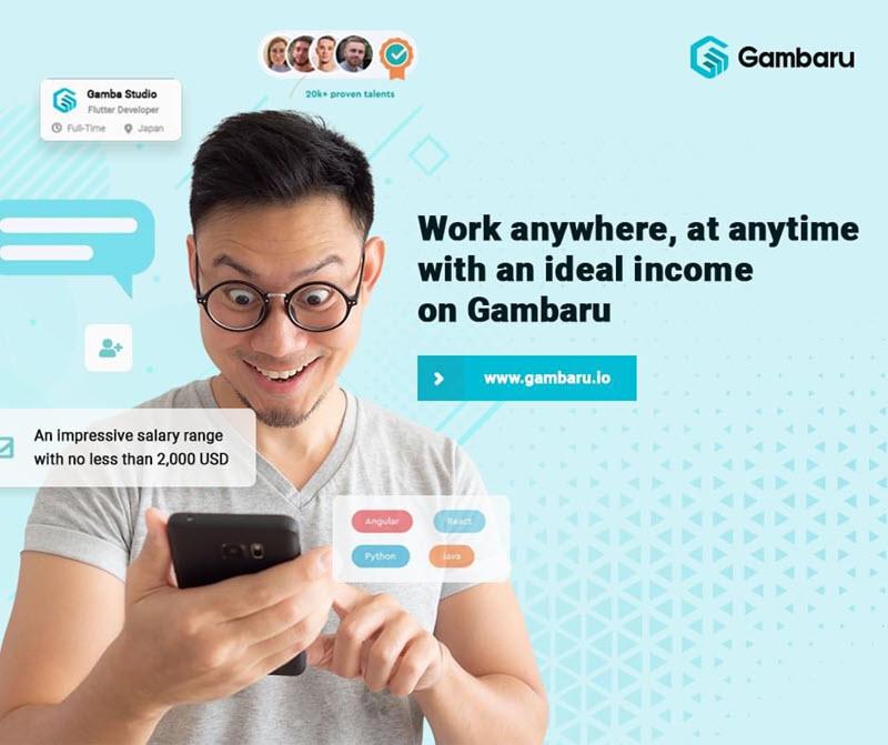 Tạo tài khoản trên Gambaru đem lại cơ hội công việc lý tưởng