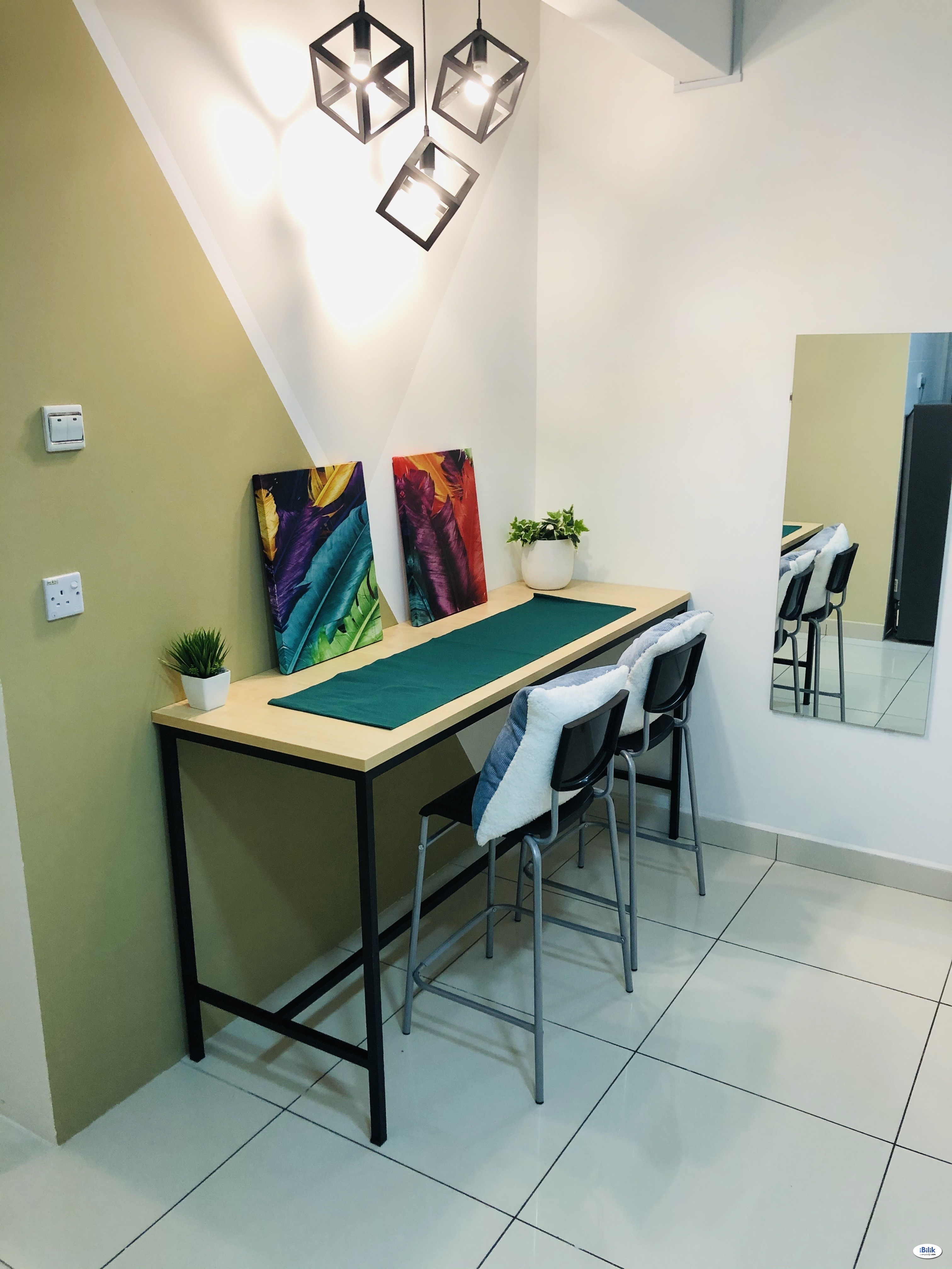 Fully Furnished Master Room included weekly cleaning service at Kuchai Lama, Kuala Lumpur