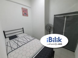 Room Rental in Malaysia - Small Room with Fully Furnished FREE cleaning services, utility and WIFI, only 5 min walking distance to Ampang Point Shopping Mall