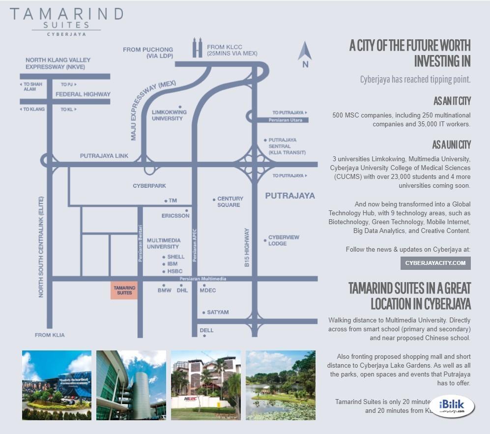 [NICE + P.FURNISH] Tamarind Suites Studio Cyberjaya near Village Grocer