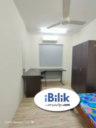 Room Rental in Malaysia - Sibeh nice fully furnished single room have AC have window walkable to Taman Megah Pasar / LRT Kelana Jaya