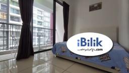 Room Rental in Kuala Lumpur - Balcony Room at Casa Green, Bukit Jalil (fully furnished, facing swimming pool good scenic view) near LRT