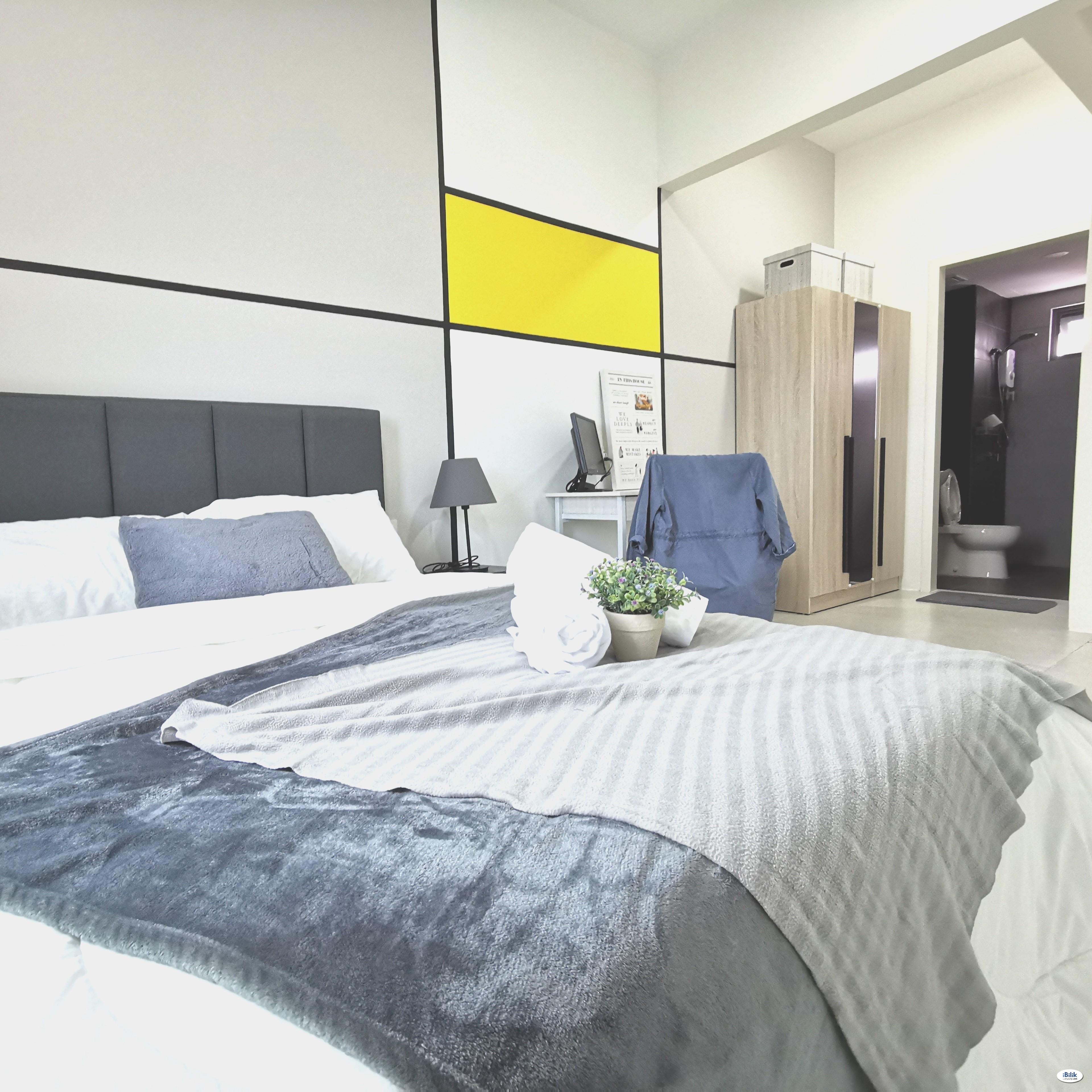 🔥🔥 Stylish Master Room @ Meritus Residensi, Jalan Baru,Kampung Jawa,Seberang Perai,Prai, Penang