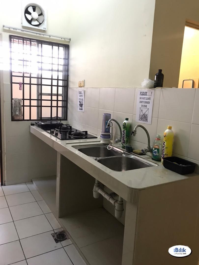 0% Deposit ! ⛔ Single Room at Anggerik Tainia, Kota Kemuning, Shah Alam with High Speed WIFi