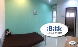 Room Rental in Selangor - 🔥 ZERO DEPOSIT 🔥 Middle Room at Kota Kemuning , Shah Alam with WI-Fi & Near Jalan Kebun , Bukit Rimau