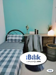 Room Rental in Malaysia - 🚩 FREE HIGH SPEED WI-FI 🚩 FREE CLEANING SERVICE ~ Single Room at Bukit Jalil, Kuala Lumpur