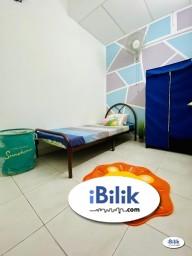 Room Rental in Selangor - Zero Deposit ⚡ Medium Room at Bandar Puchong Jaya, Puchong