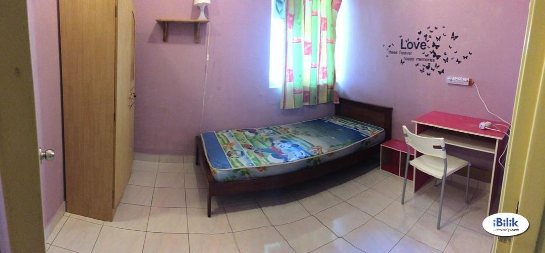 [Aircon] Single Room at Wangsa Metroview Townvilla/5-mins walk LRT Wangsa Maju