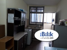 Room Rental in Malaysia - Fully furnished room at Pangsapuri Padang Jambu, Bukit Baru, Melaka for rent