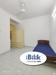 Room Rental in Selangor - convenience 🌈 Medium room connected to shared bathroom in BU 11 freely parking