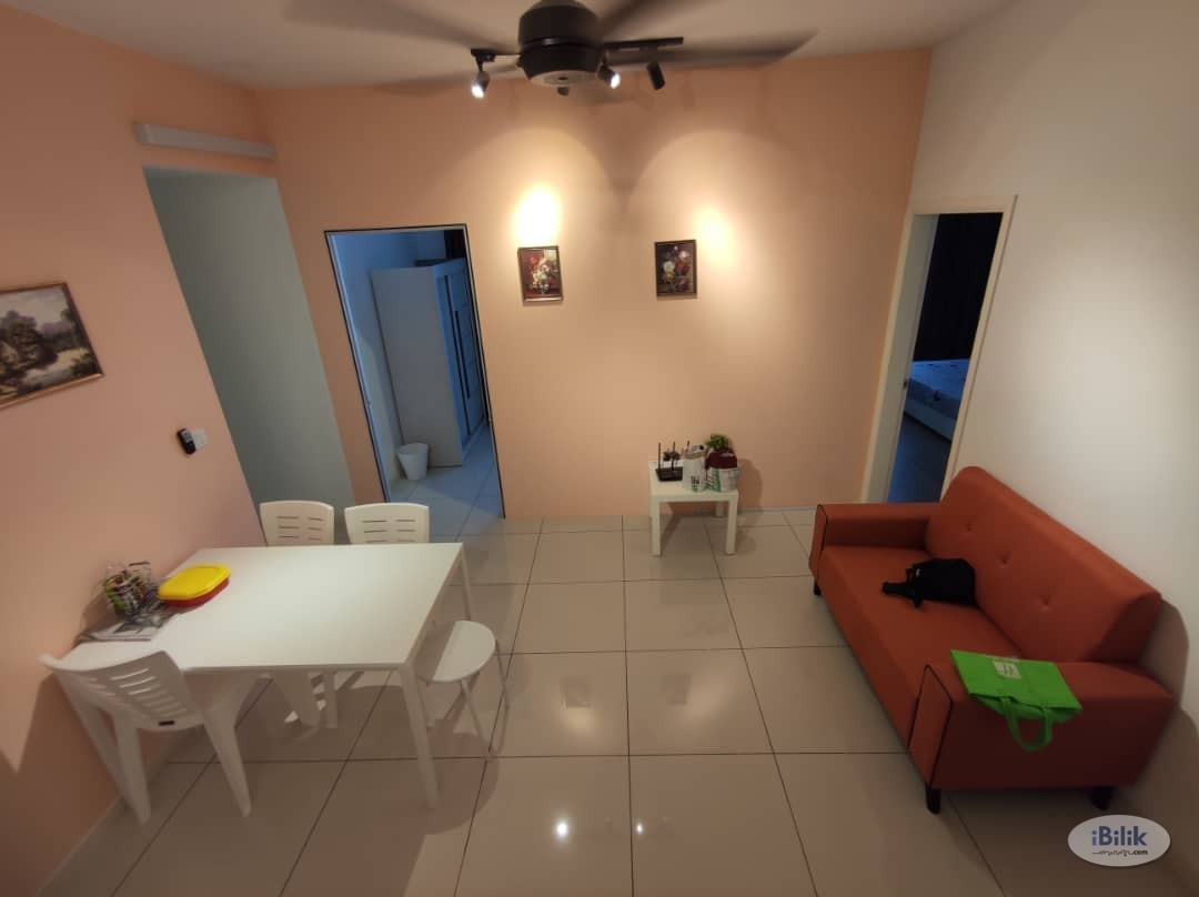 Single Room (fully furnished, facing swimming pool good scenic view) near LRT at Casa Green, Bukit Jalil