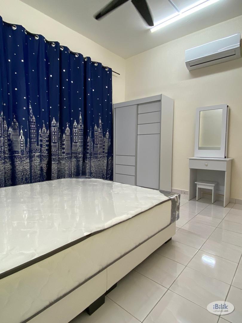 Best Accomodation!!!! [7 Mins Walk to LRT!!!] Newly Renovated with Air Con Master Room at Wangsa Metroview, Wangsa Maju