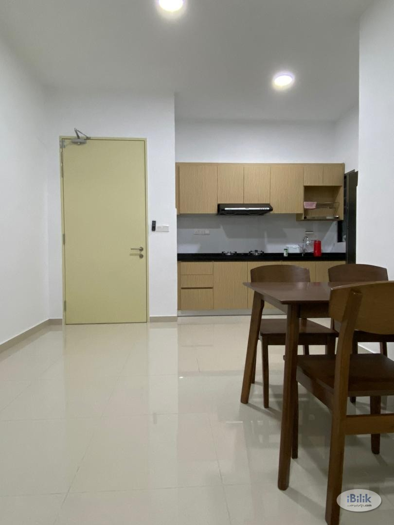 Included Utility!!! [5 Mins Walk to LRT] Newly Renovated with Air Con Middle Room at The Hamilton, Wangsa Maju