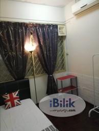 Room Rental in  - Middle Room at Taman Perling, Iskandar Puteri (Near Bukit Indah, Free Wifi, Air cond)