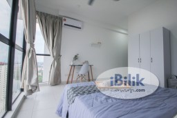 Room Rental in Selangor - ZERO DEPOSIT ,Very Nice Design Fully Furnished Lake View Master With Privated Bathroom at Astetica Seri Kembanhgan Walking Distance to The Mines Mall