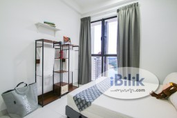Room Rental in Selangor - *Zero Deposit Move IN*Nice Deisgn Fully Furnished Middle W/Aircond&Window @ Astetica Seri Kembangan,Walking Distance to The Mines Mall Nearby KTM