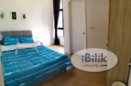 Room Rental in Kuala Lumpur - 7 Mins Walk to LRT Muhibbah Station. Middle Room with Attached Bathroom at Casa Green, Bukit Jalil
